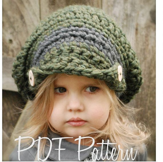 Crochet PATTERN-The Addyson Slouchy Toddler Child and Adult | Tejer ...