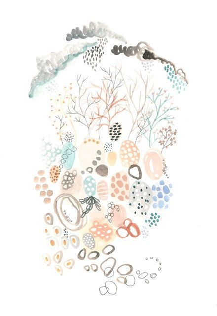 The beginning of nature abstract modern print £16.00