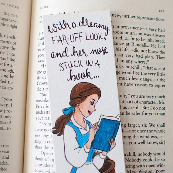 Belle Bookmark Beauty And The Beast Disney Illustrated With
