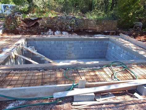 How to build a cinder block swimming pool pool ideas - Cinder block swimming pool construction ...