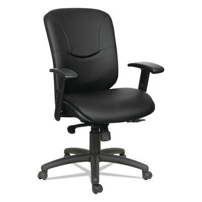 Symple Stuff Otwell Mid Back Genuine Leather Task Chair In 2020