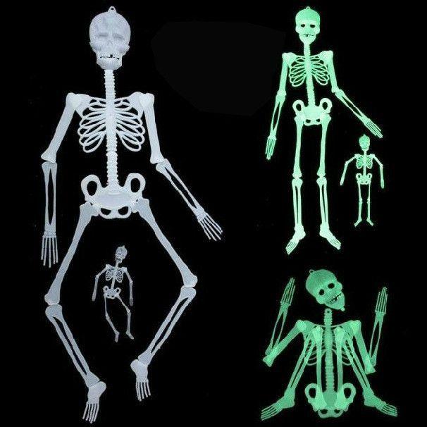 Scary Halloween Decorations Horror Luminous Movable Skull Skeleton
