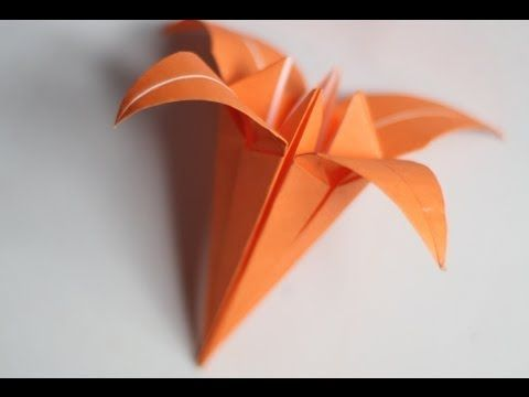 hd origami lilyiris flower origami instructions