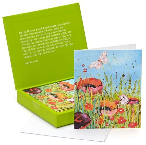 Masha Du0027yans Poppy Field Note Cards - Set of 12 Poppies, Poppy - field note