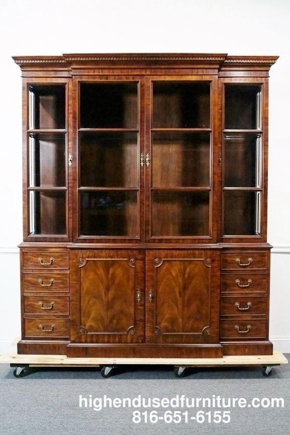 Century Furniture Claridge Mahogany 74 Lighted Breakfront China