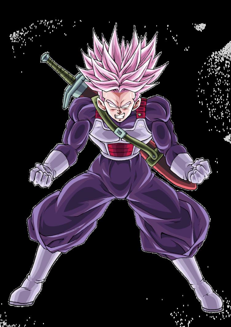 Trunks Black Super Saiyan Rose Dbxv2 Color 1 By Thanachote Nick Super Saiyan Rose Anime Dragon Ball Dragon Ball Super Manga