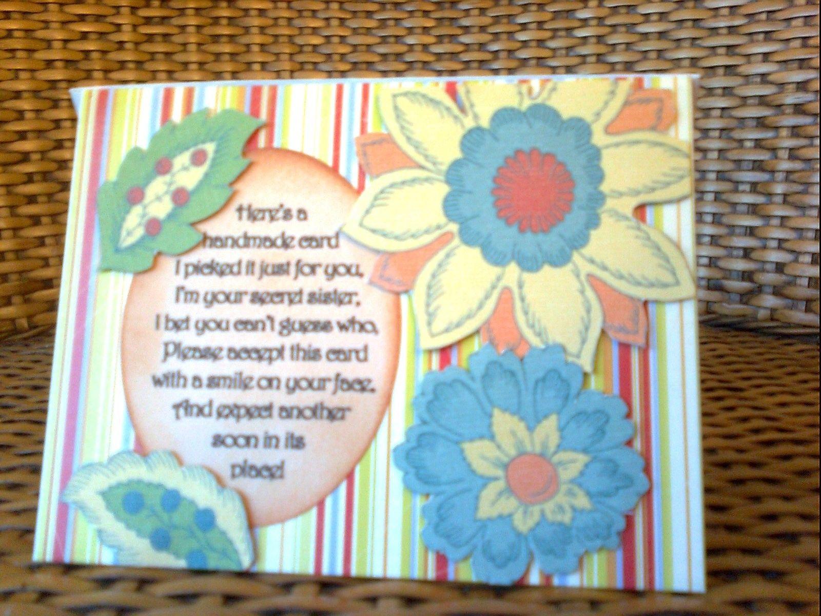 Secret Sister Card Secret sister gifts, Sister cards