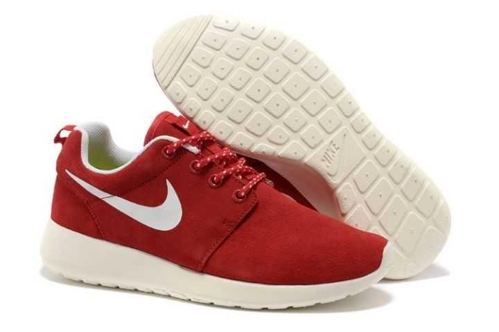Black Friday - Nike Roshe Run Trainers Ladies Red White
