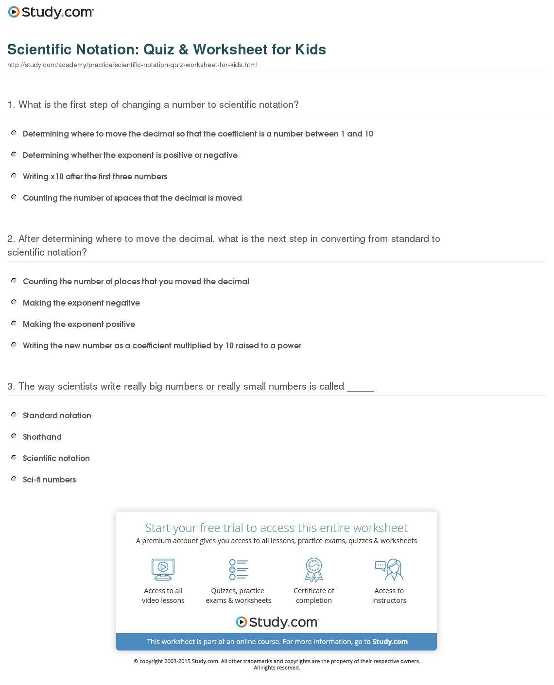 42 Clever Scientific Notation Worksheet Ideas