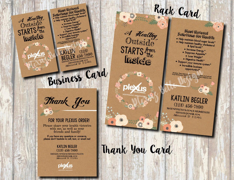 Boho Plexus Combo - Printable Business Card, Rack Card, Thank You ...