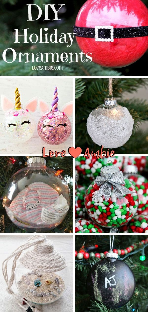 55 Best DIY Clear Glass Ball Christmas Ornaments (2020