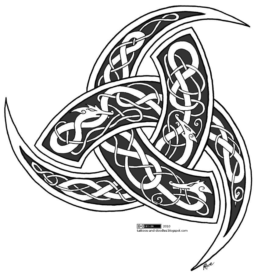 Odins 3 horn | Coloring Books | Pinterest | Horn and Tattoo