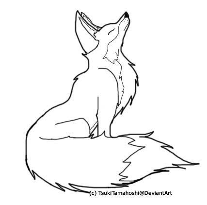 fox drawing outline google search - Color Drawing Book