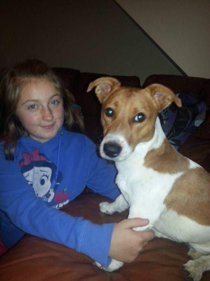 My Grandniece Alana and her Dog Coby x❤️