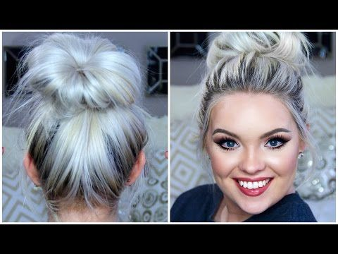 Perfect Easy Messy Bun Tutorial Without Sock Donut