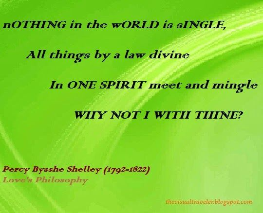 The Visual Traveler Love S Philosophy Quote Percy Bysshe Shelley Philosophy Quotes Literary Quotes Quotes