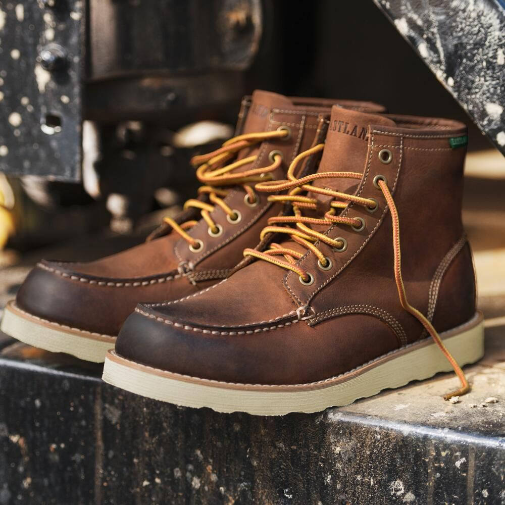 Our handcrafted classic moc toe workmans boot is packed with authentic character that looks and feels broken in right out of the box