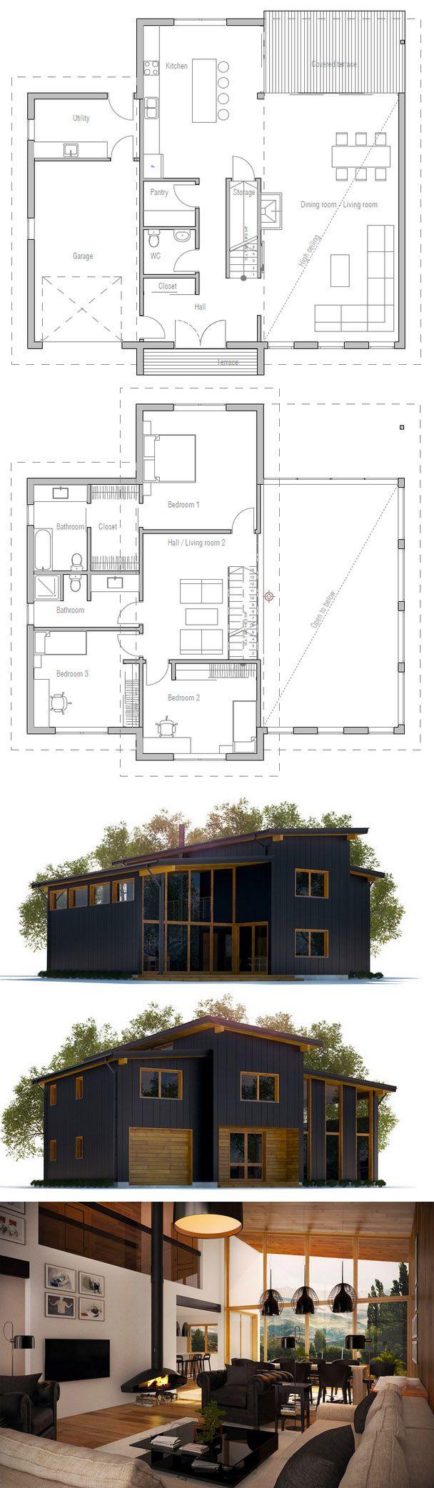 Floor plans modernarchitecture architektur in 2019 for Haus bauen plan