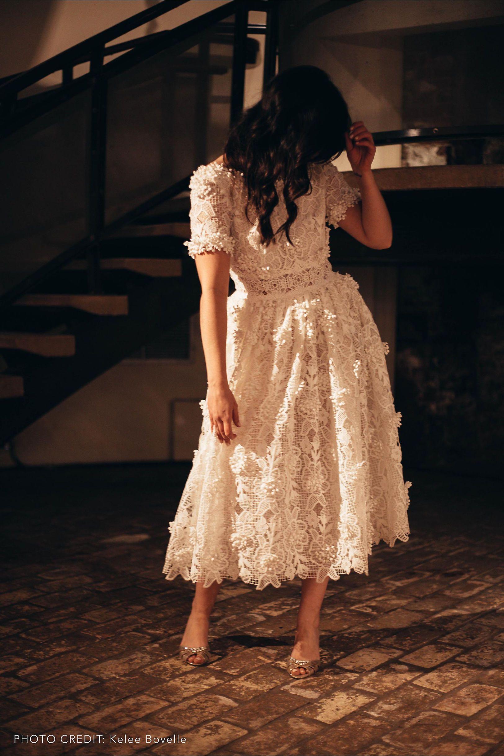 Rehearsal Dinner Or Garden Party Wedding Dixon Gown Ivory In Bride Bhldn Short Wedding Gowns Rehearsal Dinner Dresses Dinner Dress [ 2440 x 1625 Pixel ]