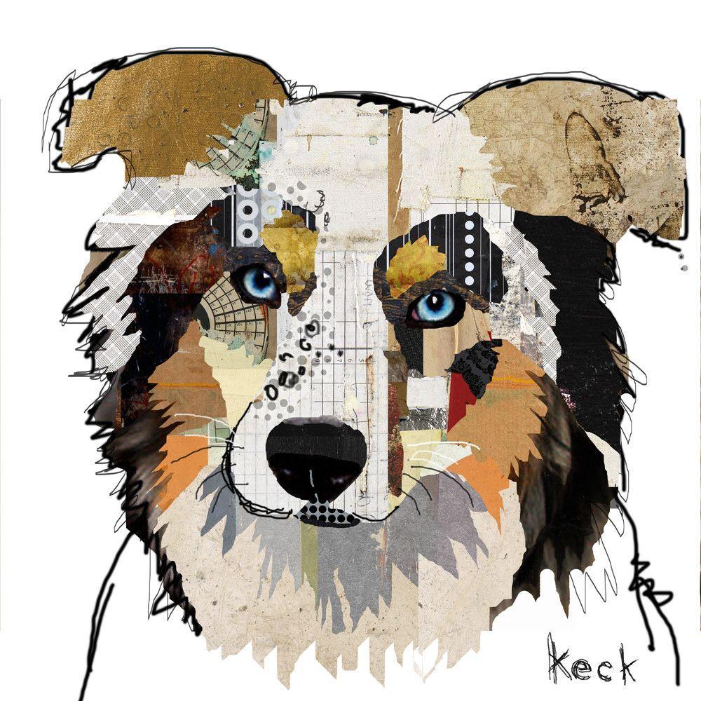 041501 Australian Shepherd Canvas Art Print