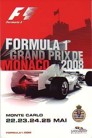 Affiche Grand Prix De Monaco 2008 Grand Prix De Monaco Grand