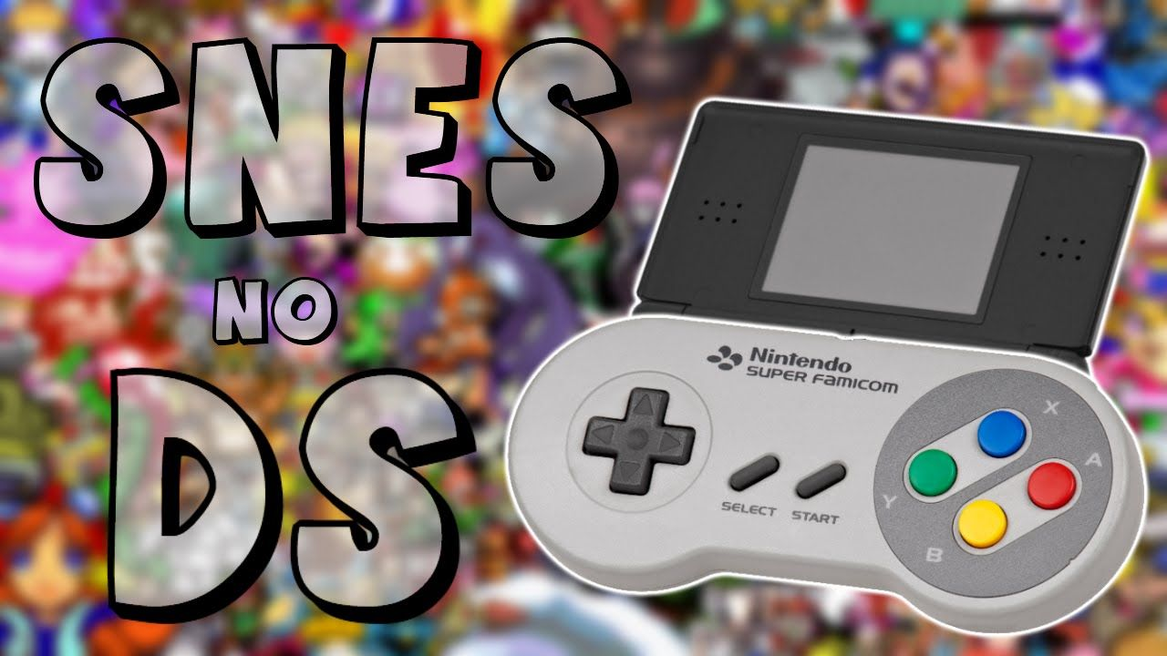 Emulador de SNES no DS Nintendo ds, Nintendo, Super nintendo