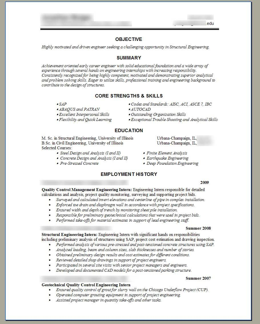 Chemical Engineering Resume Civil Engineer Technologist Resume Templates  Httpwww