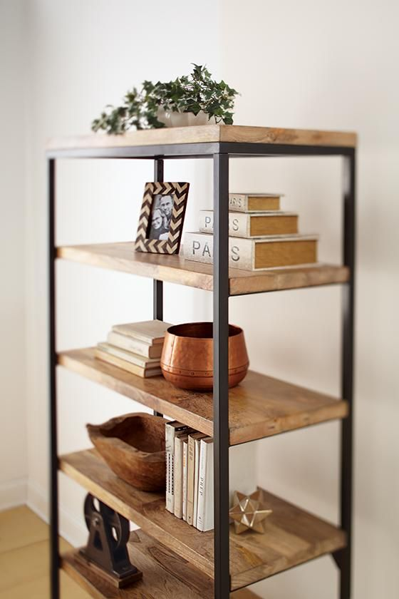 Home Decorators Collection Anjou Natural Open Bookcase ...