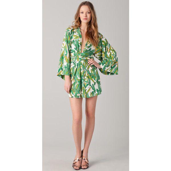 ISSA Print Short Kimono Dress found on Polyvore