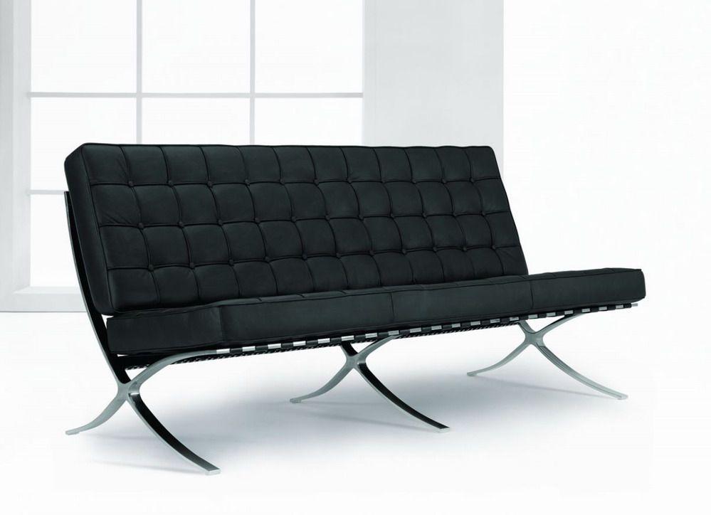 Prime Classic Design Exposition Famous Design Black Leather Sofa