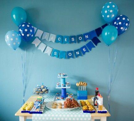Baby Boy 1st Birthday Decoration Ideas At Home