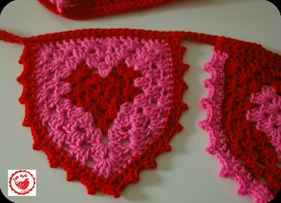 Free Granny Heart Bunting  Pattern & Tutorial