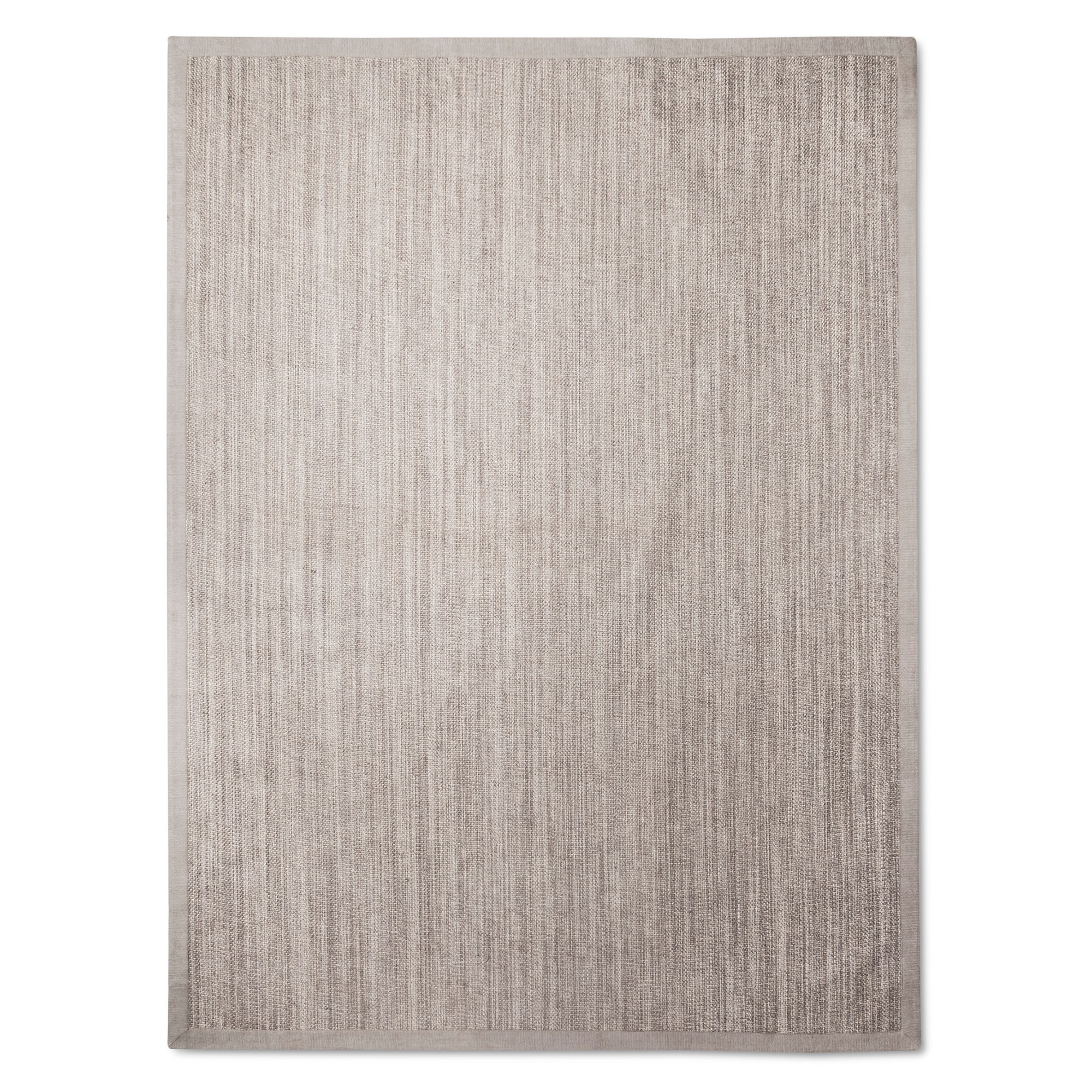 9 X12 Solid Woven Boarder Area Rug Light Gray Threshold Border Rugs Area Rugs Rugs