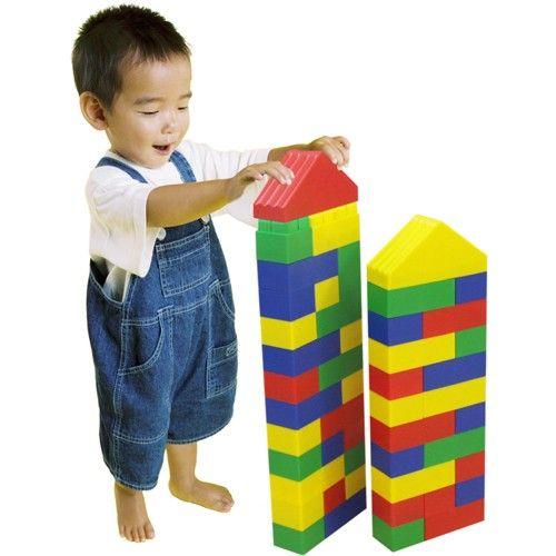 niño jugando con construcciones kim super de Miniland. #juguetes ...