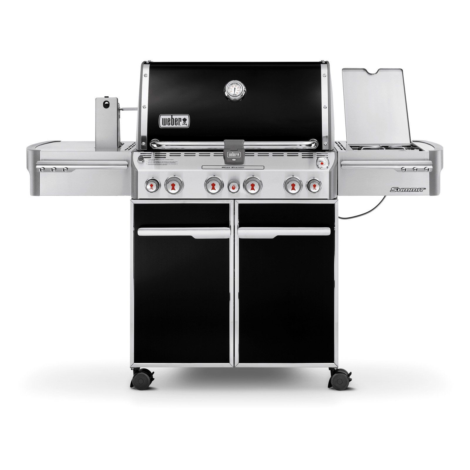 Weber Summit E 470 Black Gas Grill Natural Gas Best Gas Grills Gas Grill Natural Gas Grill
