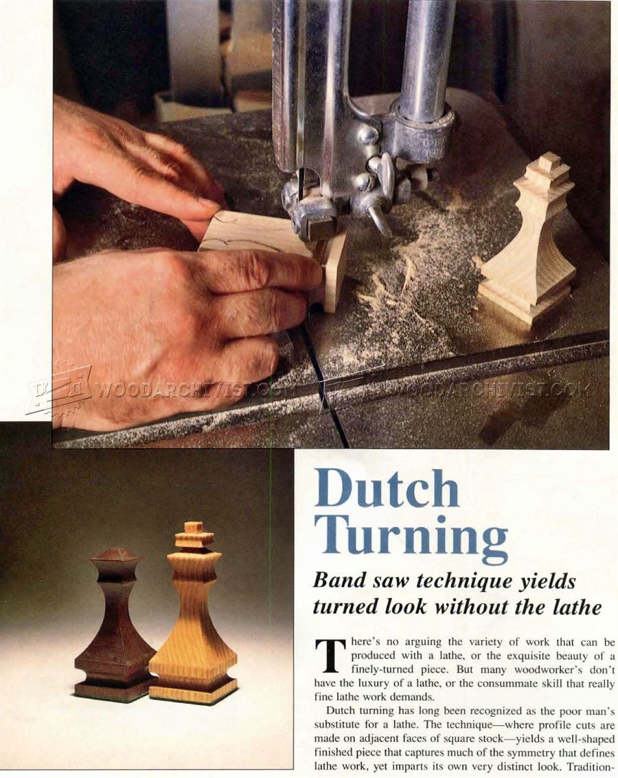 Band Saw Chess Pieces - Woodworking Plans