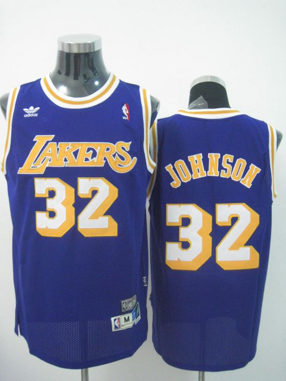 aafd44aace0 ... coupon code for adidas nba los angeles lakers 32 magic johnson swingman  purple throwback jersey ab575