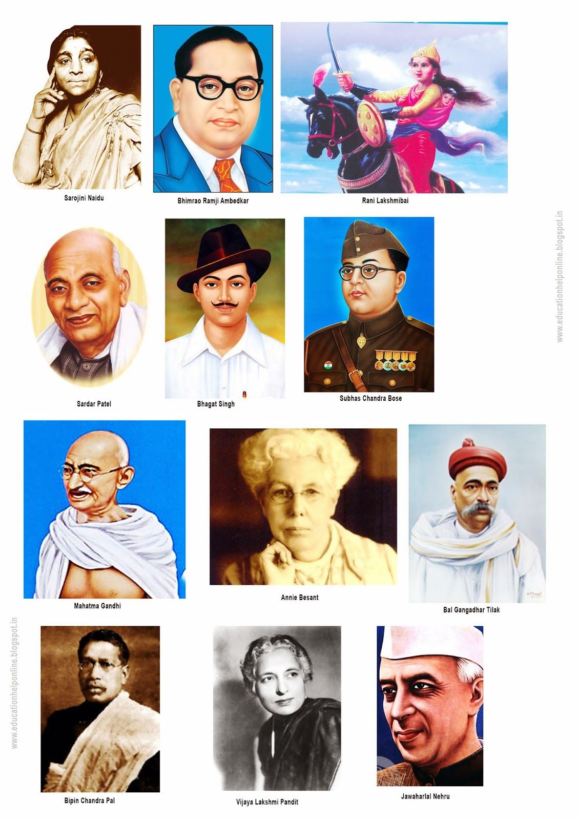 Indian Freedom Fighters Picture Chart Indian Freedom Fighters Freedom Fighters Of India Freedom Fighters