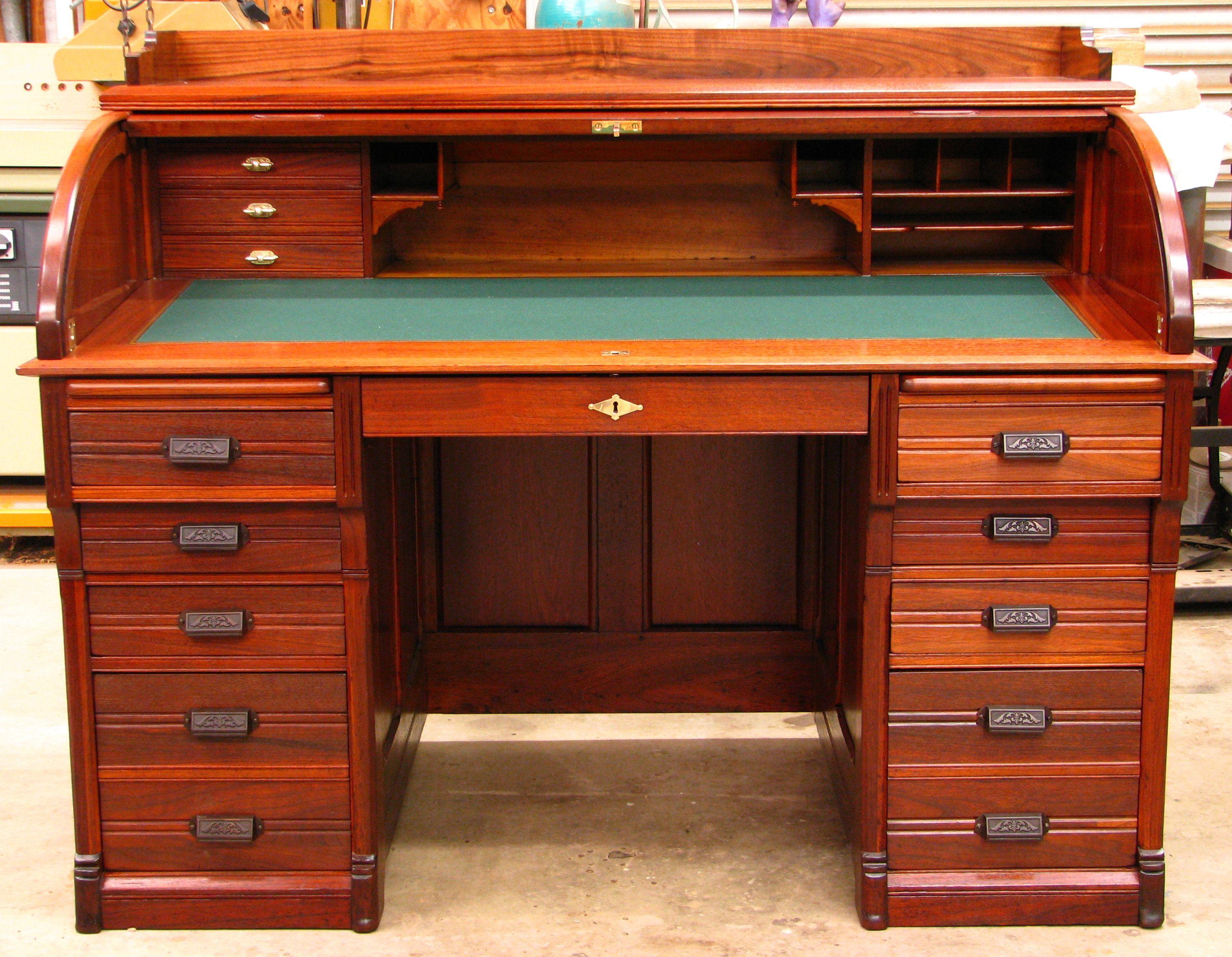 furniture desks for mn desk roll amish top mankato