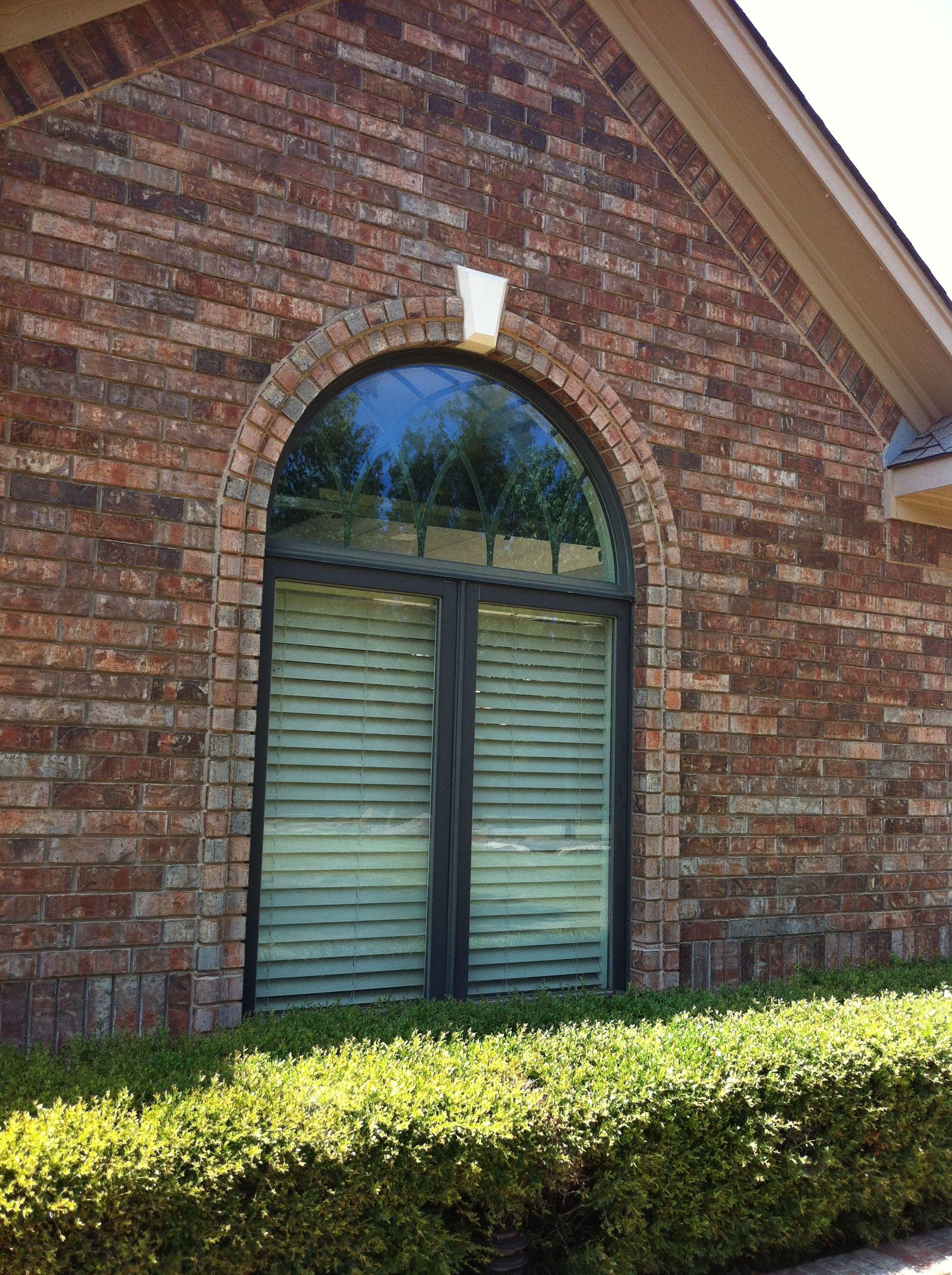 Window With Keystone Brick Ideas In 2019 Garage Doors