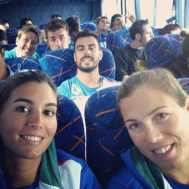#Volleyselfie durante il viaggio verso Parana
