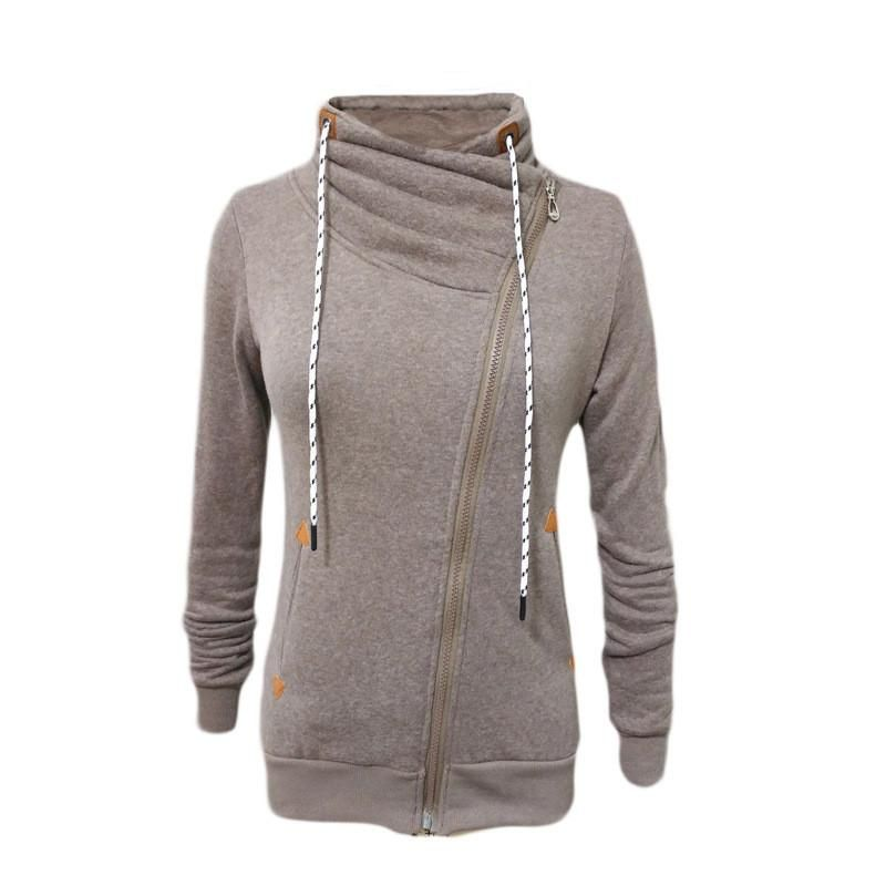 Howme Women Zipper Splicing Plus Size Workout Casual Weekend Sweatsuit