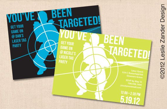 Youve been targeted laser tag personalized printable birthday party youve been targeted laser tag personalized printable birthday party invitation diy filmwisefo Images