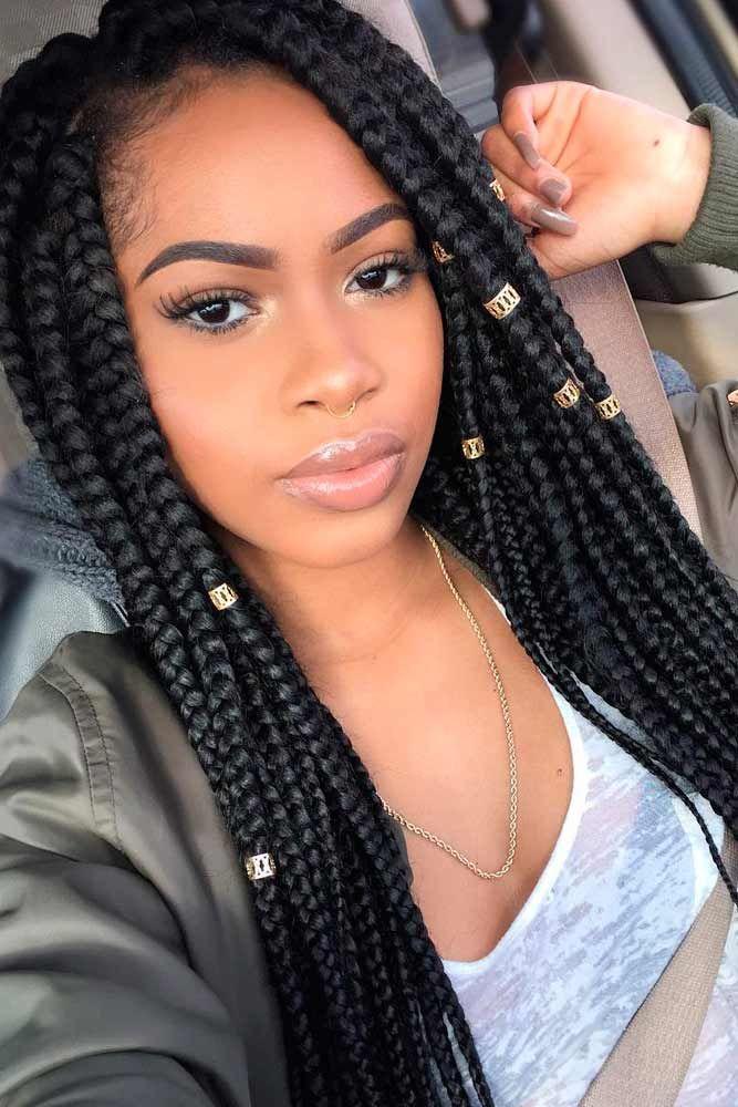 Favorite Stylish Box Braids Hairstyles Lovehairstyles Com Natural Hair Styles Braided Hairstyles Easy Braided Hairstyles