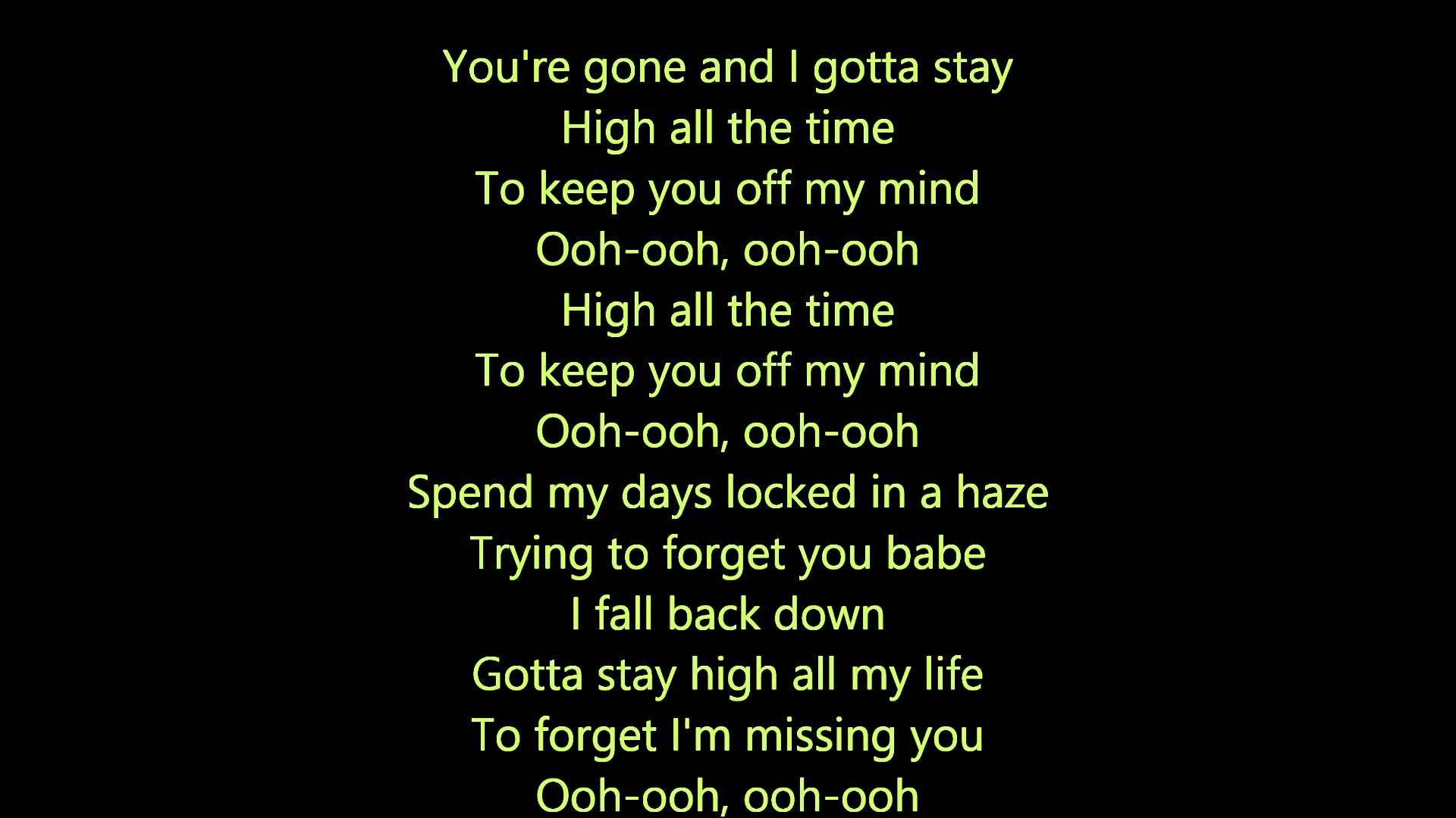 Tove Lo Habits Stay High Lyrics I Like The Beat Have Had