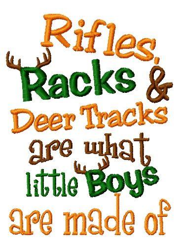 Rifles Racks /& Deer Tracks are What Little Boys are Made of Unisex T-Shirt
