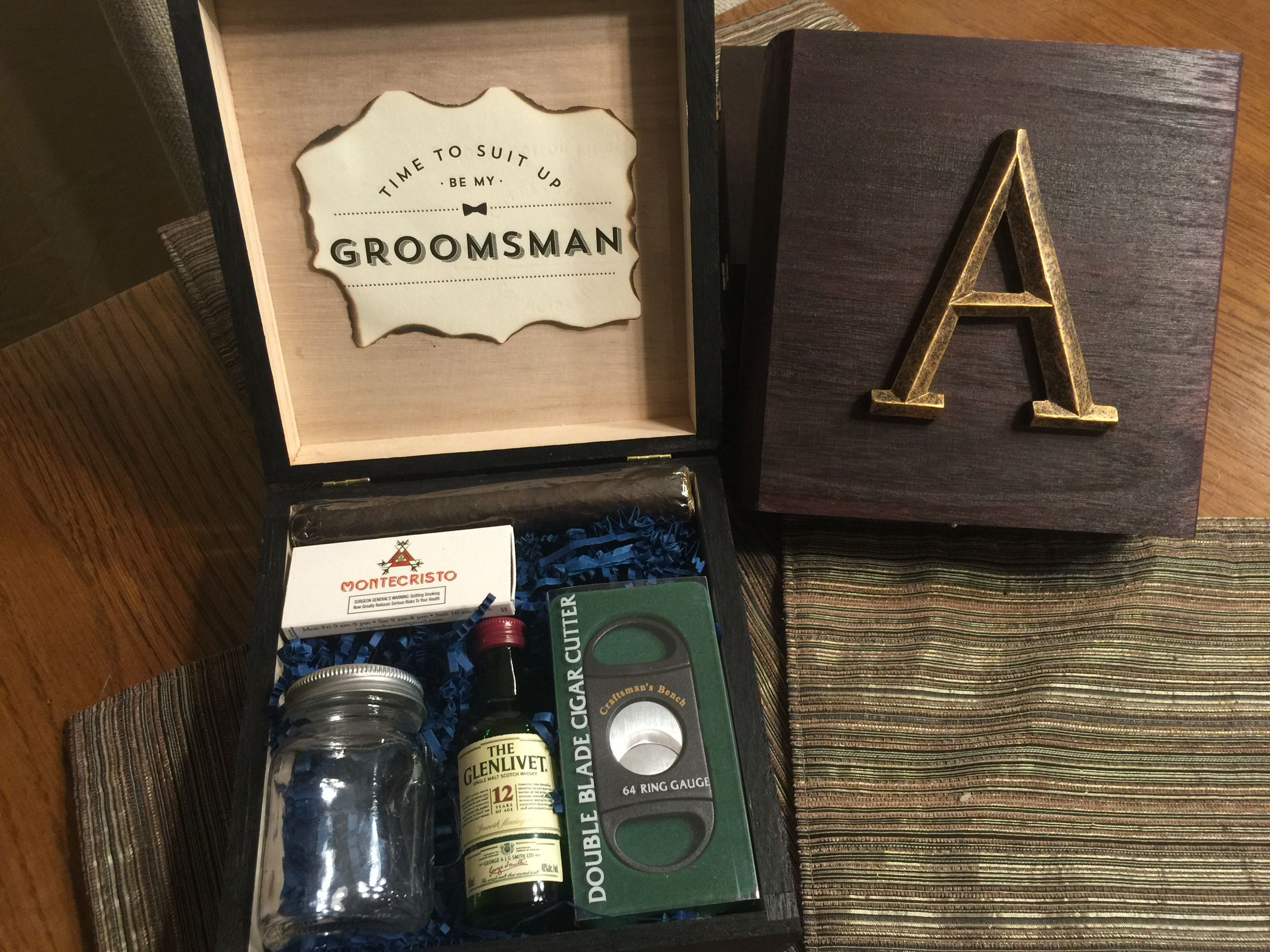 Groomsmen Boxes Diy Dream Wedding In 2019 Groomsman Gifts