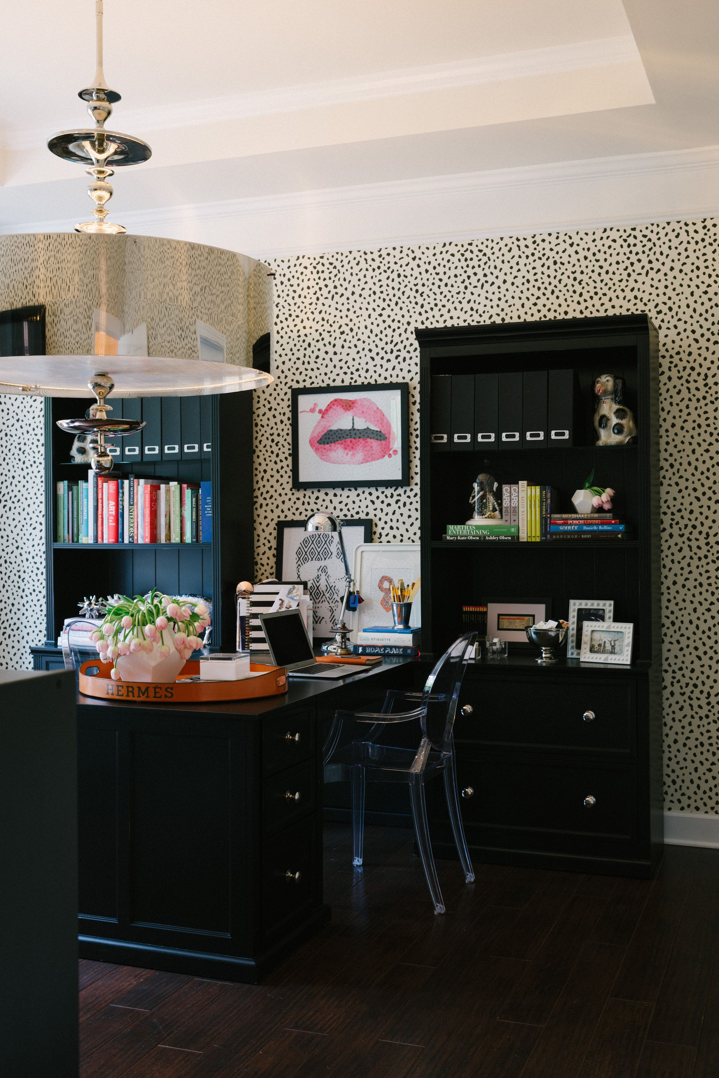 One Room Challenge Week One Chic Wallpaper Home Office Design
