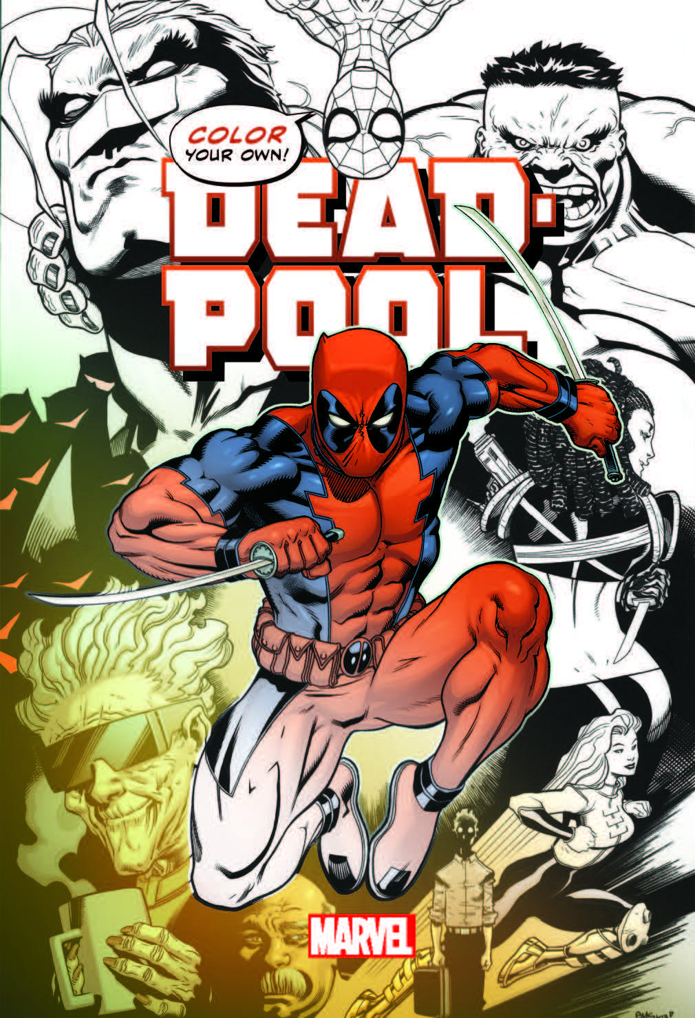 color your own deadpool coloring book coming from marvel