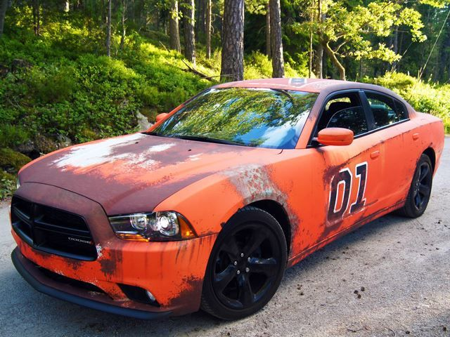 Sweden Revives The General Lee With A Rusty Vinyl Wrap General Lee Dodge Charger Rusty Cars